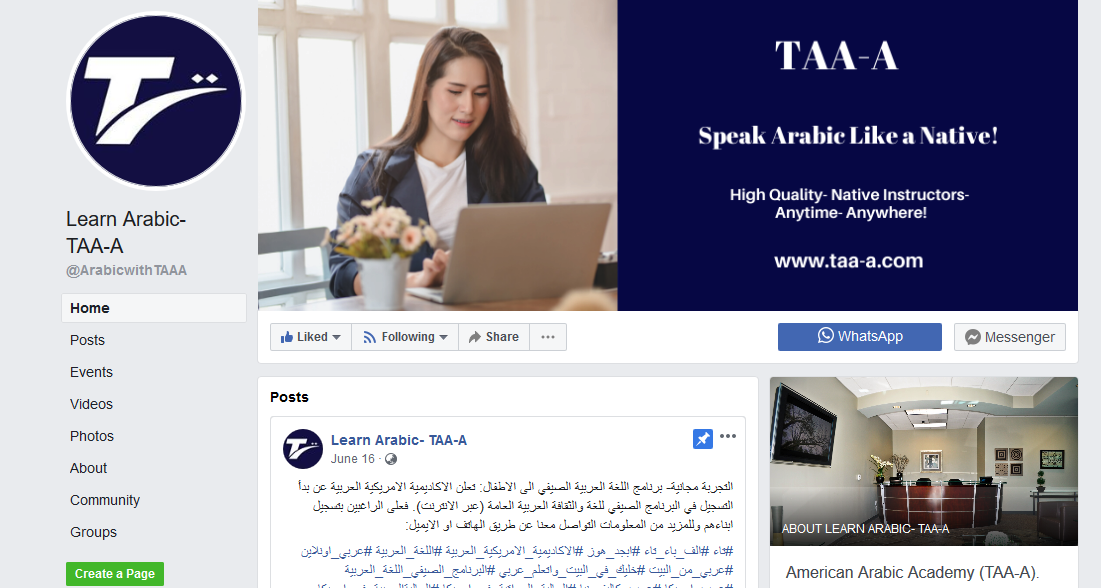 Learn Arabic- TAA-A - Home